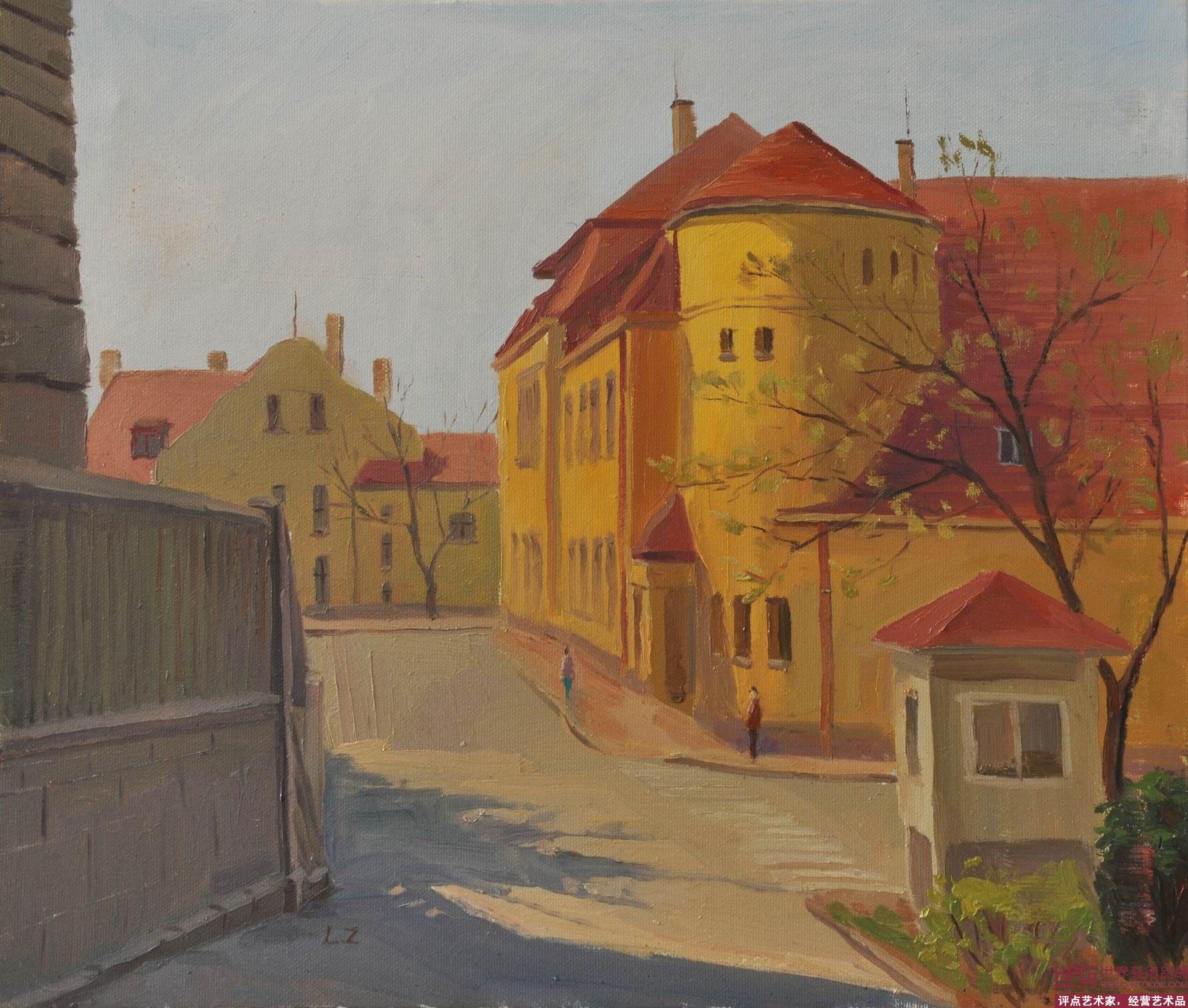 后一幅最后幅  转到:; 青岛的黄房子; 刘柱的相册 - 2012年油画风景
