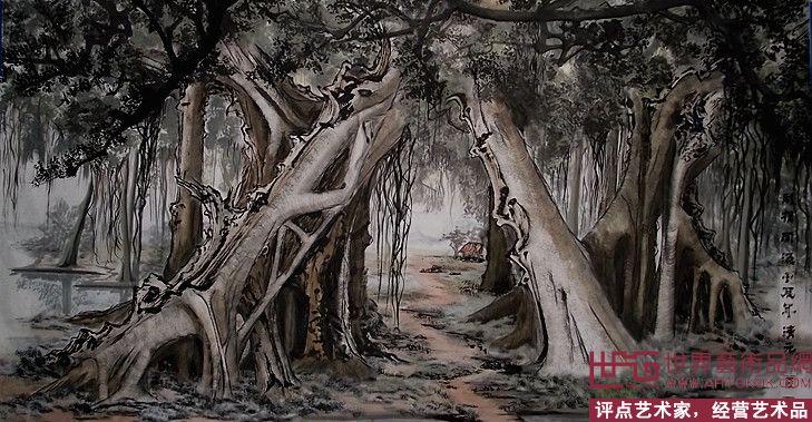 名家 罗清元 国画 - 罗清元新榕树国画 当前   位粉丝喜爱本幅作品