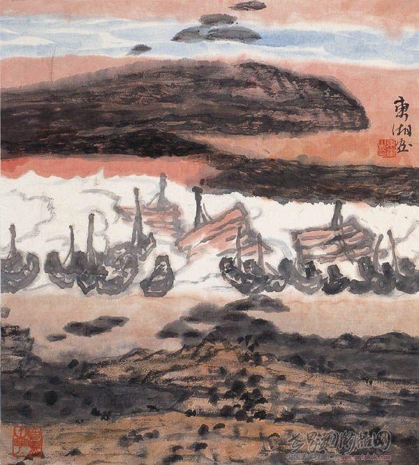 """名家 王东湘 国画 - """"海之韵""""山水小品系列6"""