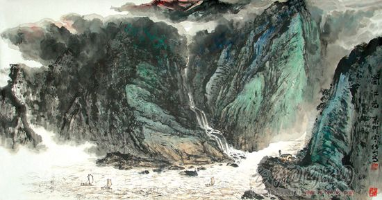 借鉴近现代山水画名家的艺术风格和… 进入作者展厅查看详细简介
