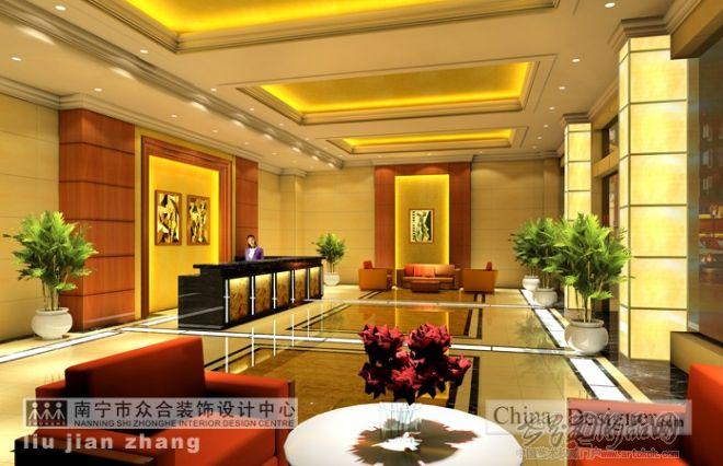 标题 百色人行宾馆大. 百色人行宾馆大堂01 现代装修效果图