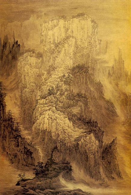 管苠岗-深山藏古寺-淘宝-名人字画-中国书画交易中心