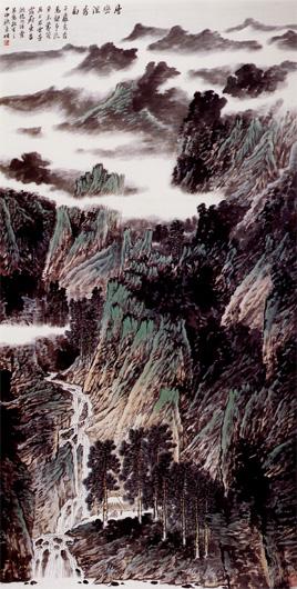 李明-层峦深秀图-淘宝-名人字画-中国书画交易中心,,.