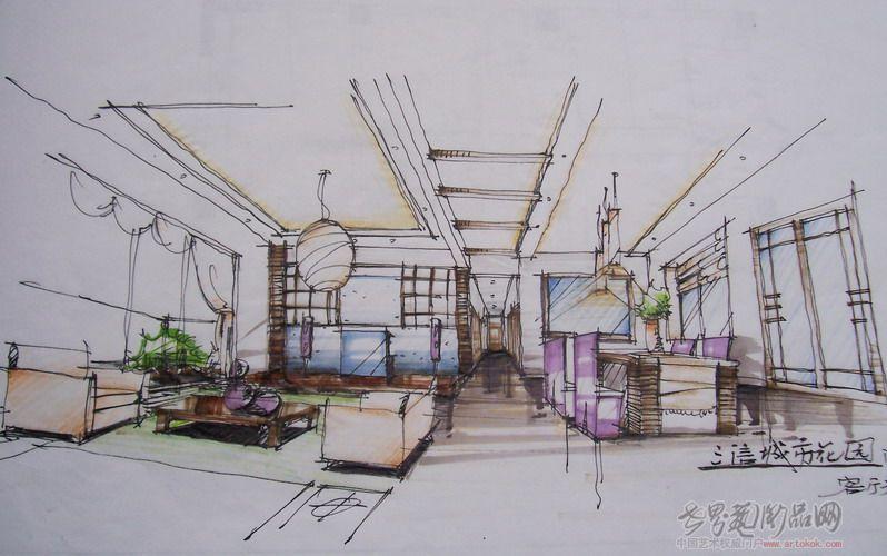 室内手绘d立 展厅