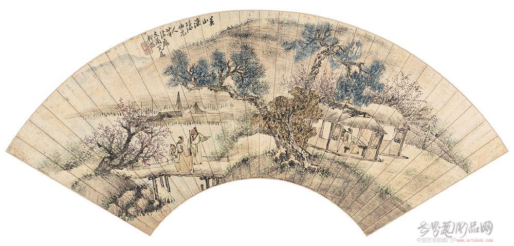 杨柳桥,名惺惺,字柳桥,清末沪上画家。《中国美术家人名大词典》、《海上墨林》有记载。此水彩画册共36张作于1914-1915年,描绘写生当时风景人物,从中可以了解清末时代风貌,及中国早期水彩画家的作品原作。