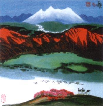 获奖新疆风景画