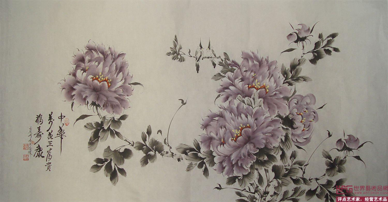 中国画小写意牡丹图片