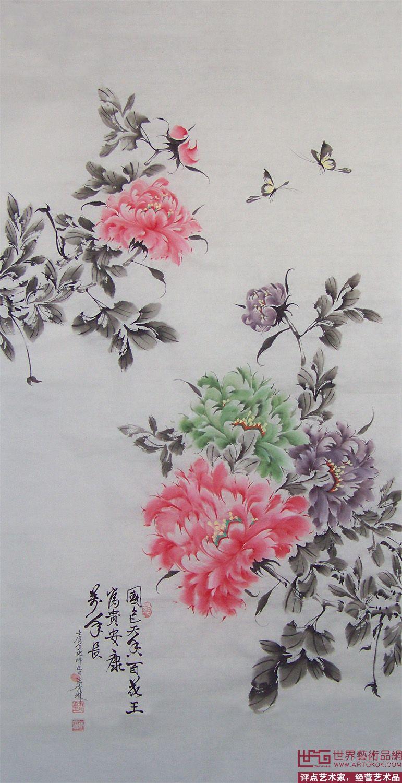 中国画小写意牡丹