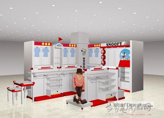 设计师家园-室内设计,效果图,装修; snoopy童装专柜-越亚明的设计师