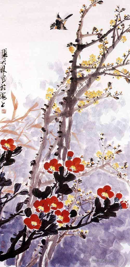 国画 名家 张大林国际艺栈作品交易平台图片