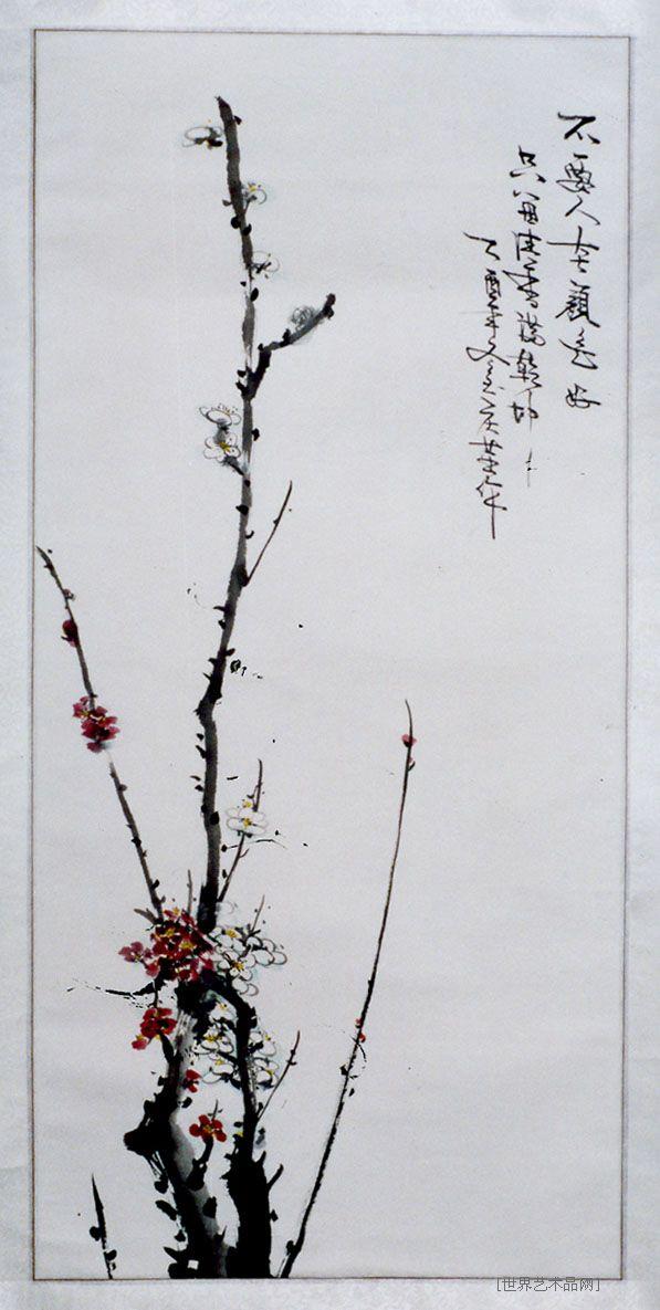 桃花矢量图黑白