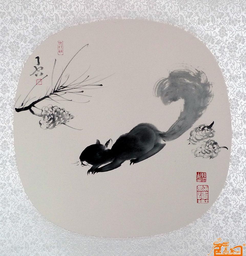 中国画松鼠步骤图