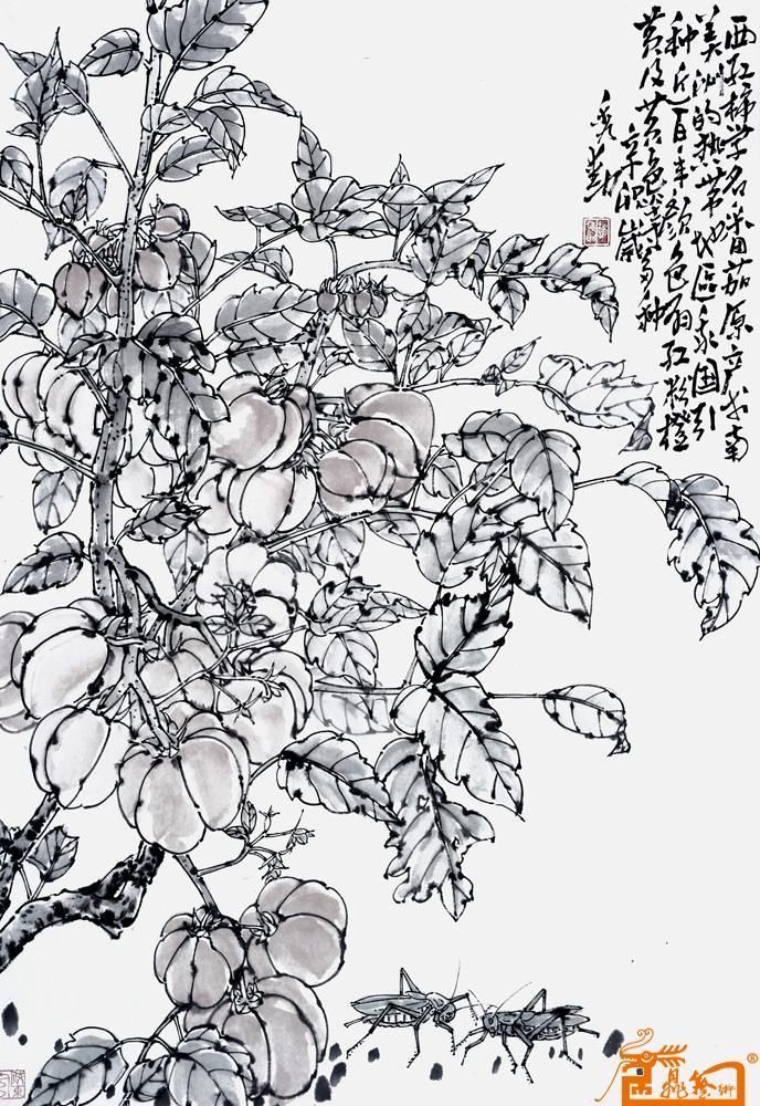 西红柿写生 -赵秀勋-淘宝-名人字画-中国书画服务中心
