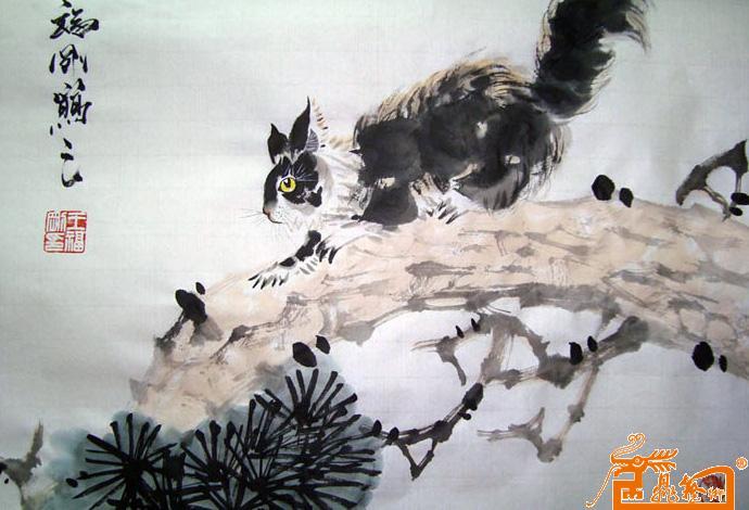 王福刚-松鼠-淘宝-名人字画-中国书画交易中心