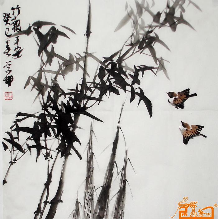 幼儿园竹子作品国画图片