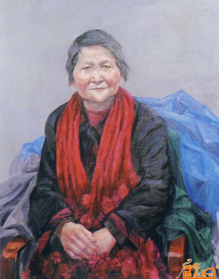中国书画交易中心 -边信历 油画肖像 邢山作