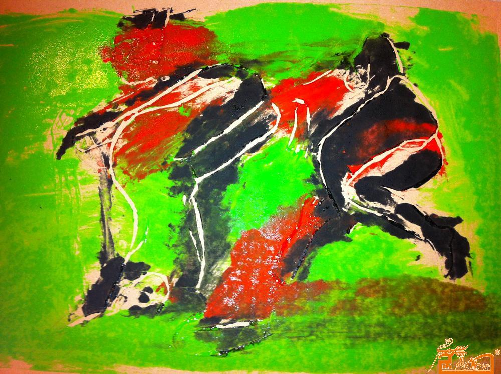 艺术 杨洋/名称:《存在》 木刻版画