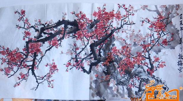 国画梅花-杨效梅-淘宝-名人字画-中国书画交易中心