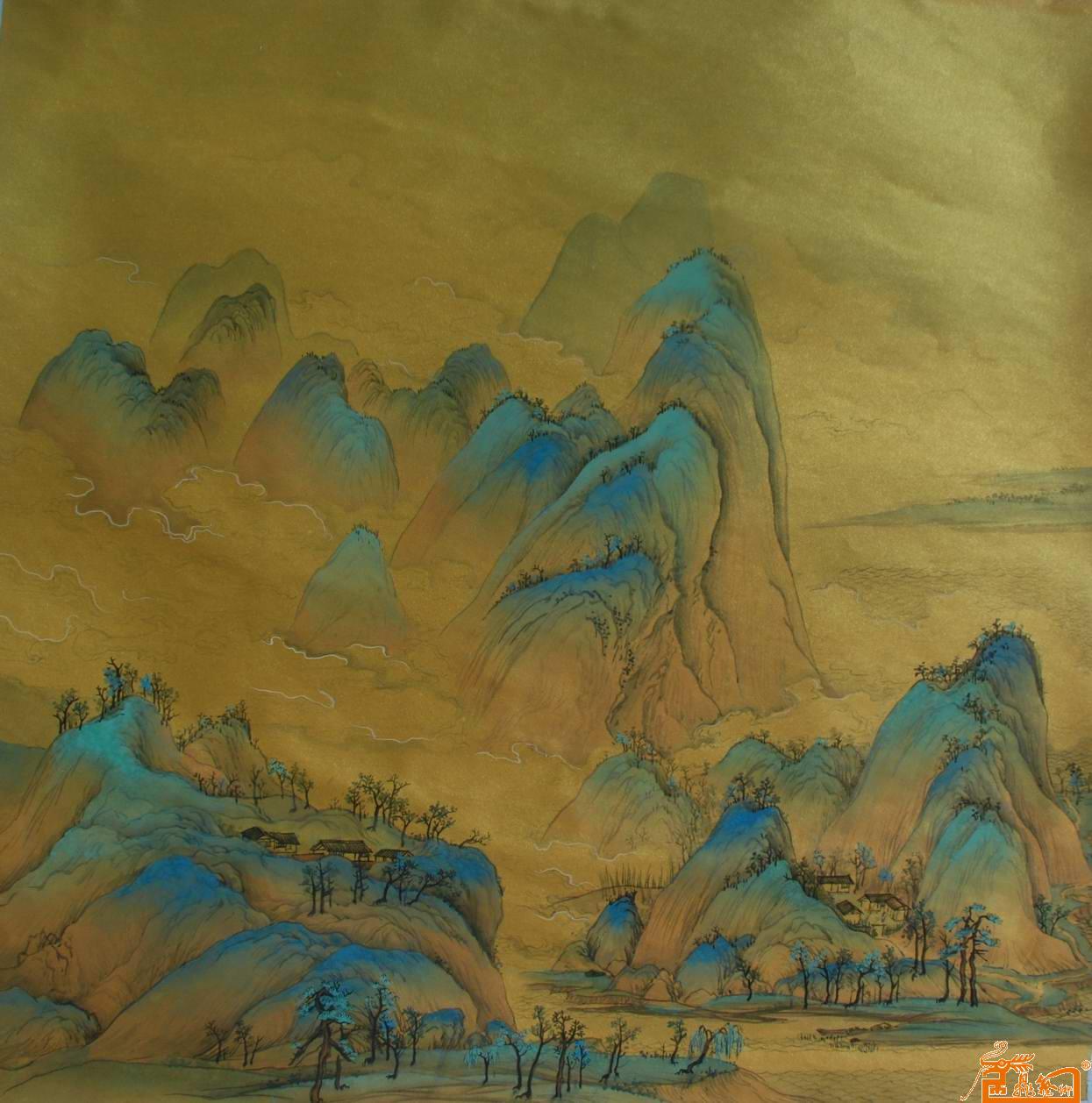 郑现峰-青绿山水-淘宝-名人字画-中国书画交易中心