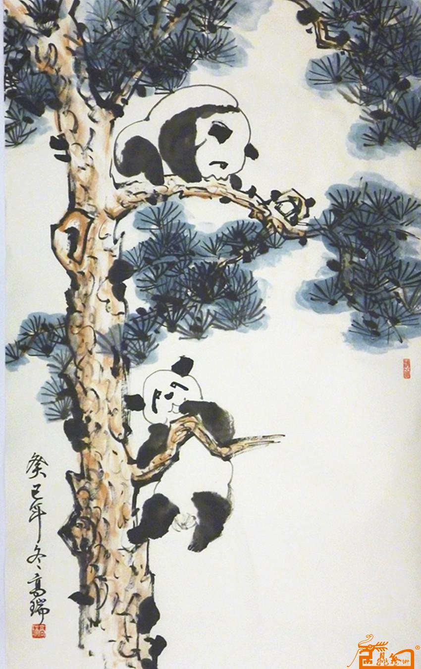 年,后专攻中国画小写意熊猫竹子及梅花,熊猫画师法自然, 图片