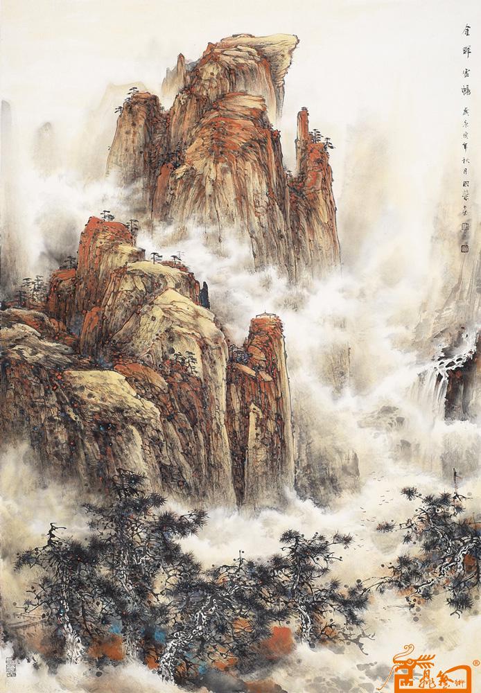 名家 梁国荣 山水 - 山水画 当前 位粉丝喜爱本幅作品图片
