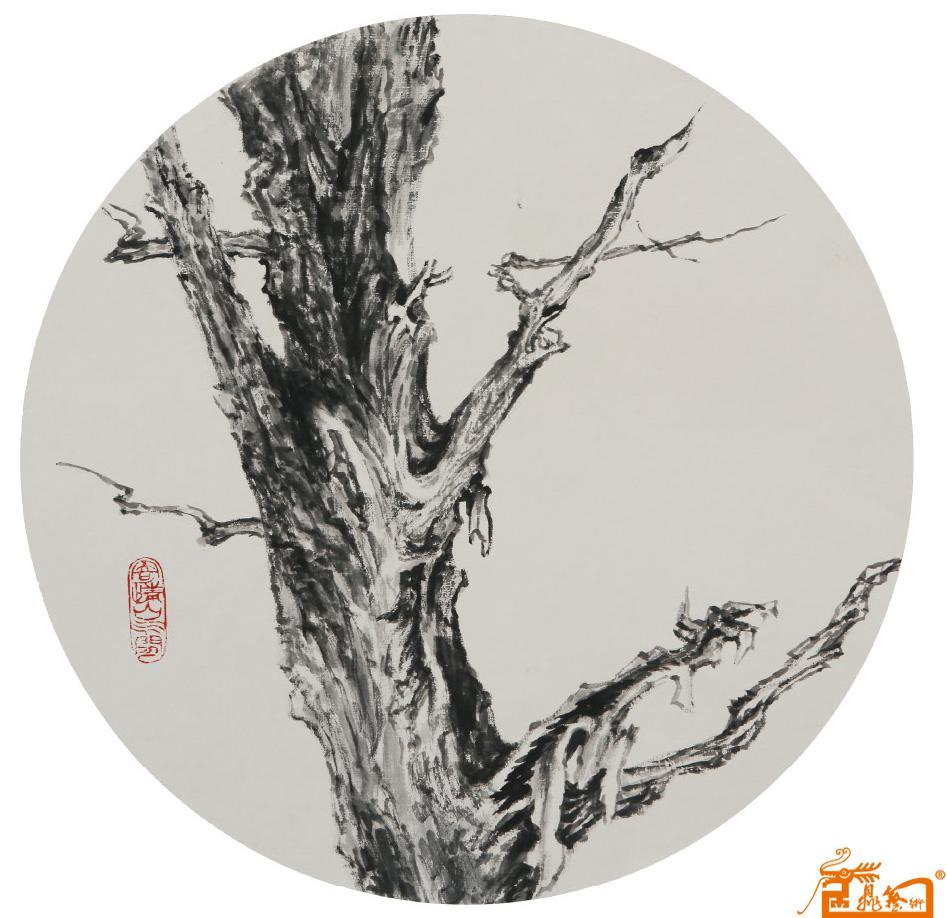 名家 赵群 国画 - 作品18枯树逢春图 当前 位粉丝喜爱本幅作品