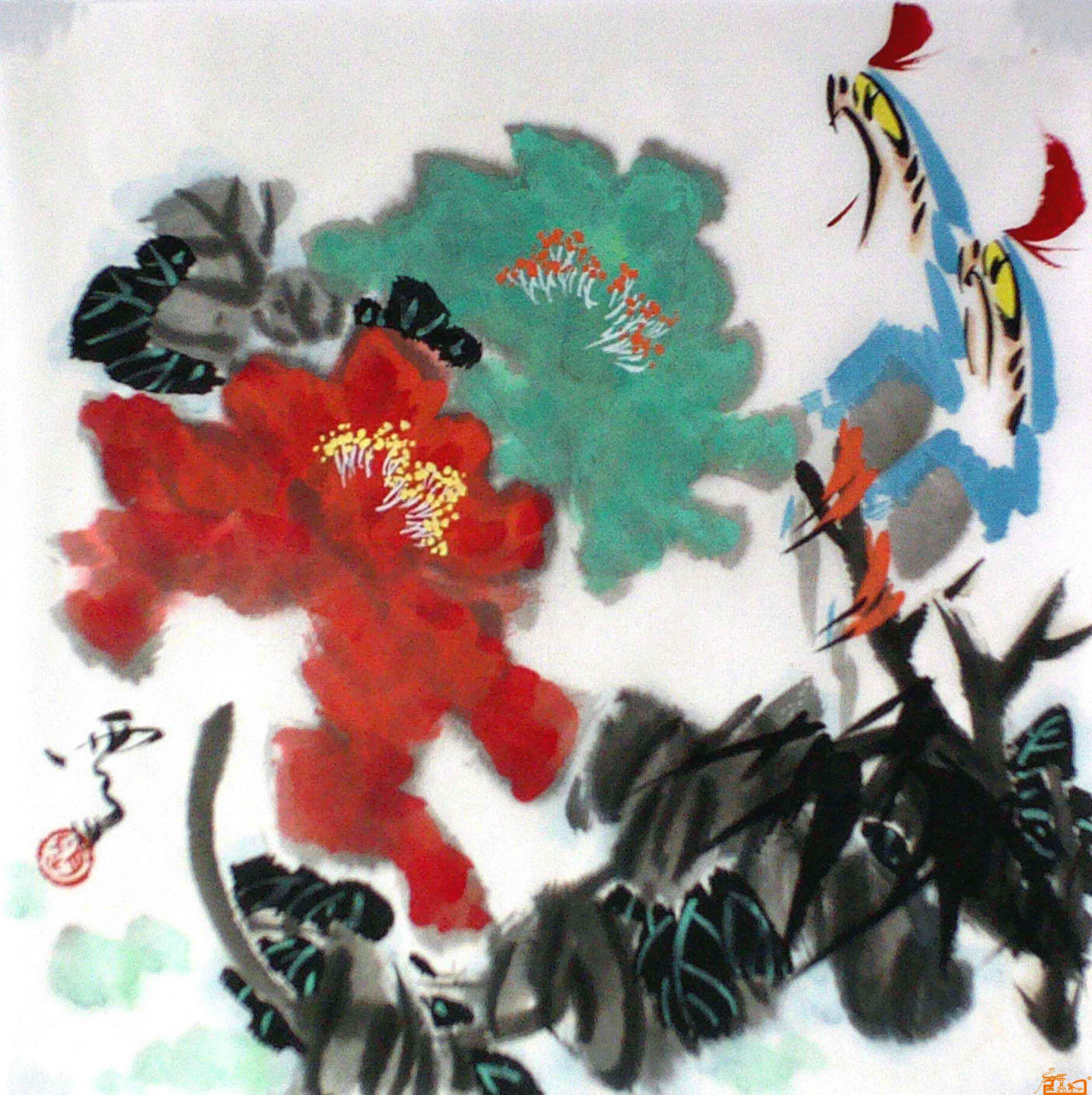 赵云州-牡丹花-淘宝-名人字画-中国书画服务中心