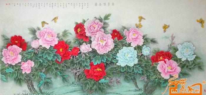 刘玮玮-八尺工笔画牡丹富贵牡丹-淘宝-名人