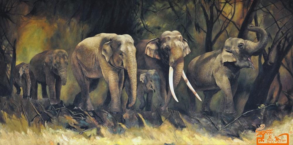 中国生态环保绘画第一人—张东光-穿越丛林 -淘宝--,.