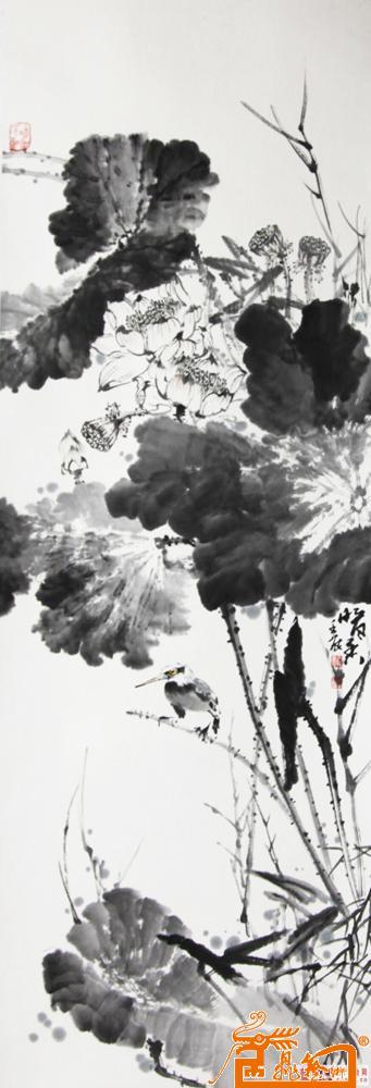 于飞-于飞写意荷花-淘宝-名人字画-中国书画交