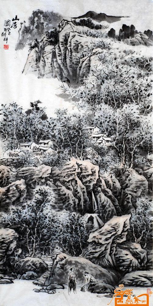 山居图 -何焰祥-淘宝-名人字画-中国书画服务中心