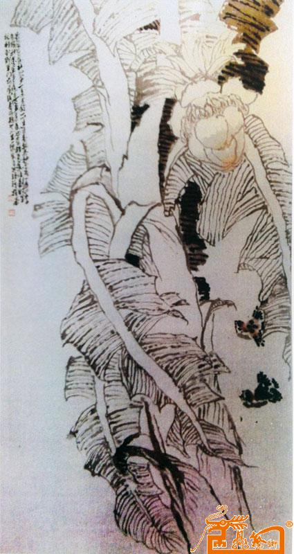 芭蕉花(指画)-郑瑶琪-淘宝-名人字画-中国书画交易
