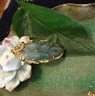 冰种金镶玉枫叶挂件
