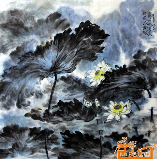 荷花5-安国强-淘宝-名人字画-中国书画交易中心