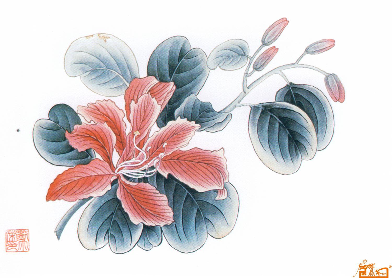 刘尔荣-大紫荆花-淘宝-名人字画-中国书画交易中心