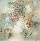 韩和平作品 榴实栖禽图