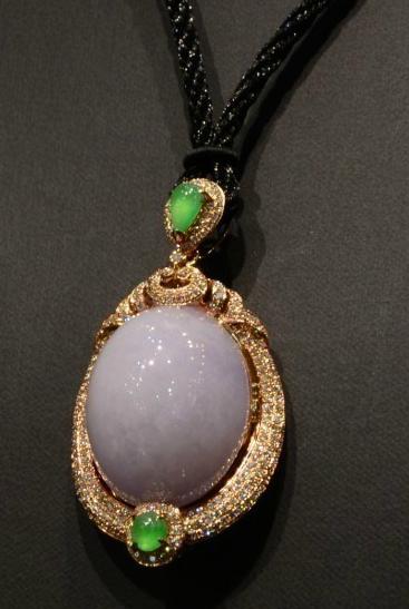 珍钰阁-天然翡翠精品---紫罗兰吊坠-淘宝-名人字画