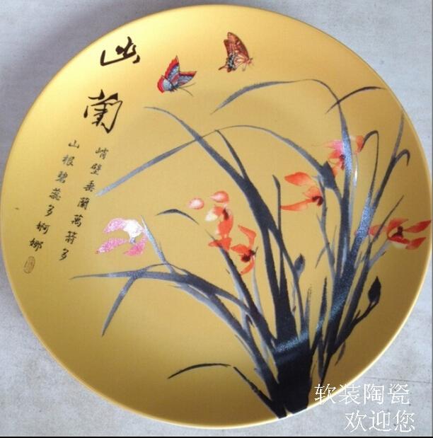 装饰陶瓷摆件-欧式田园坐盘