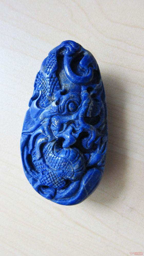 精美青金石雕刻挂件(把件)