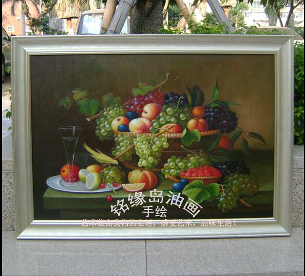 铭缘岛油画 - 水果 油画手绘 静物风景装饰印象无框画 客厅餐厅玄关