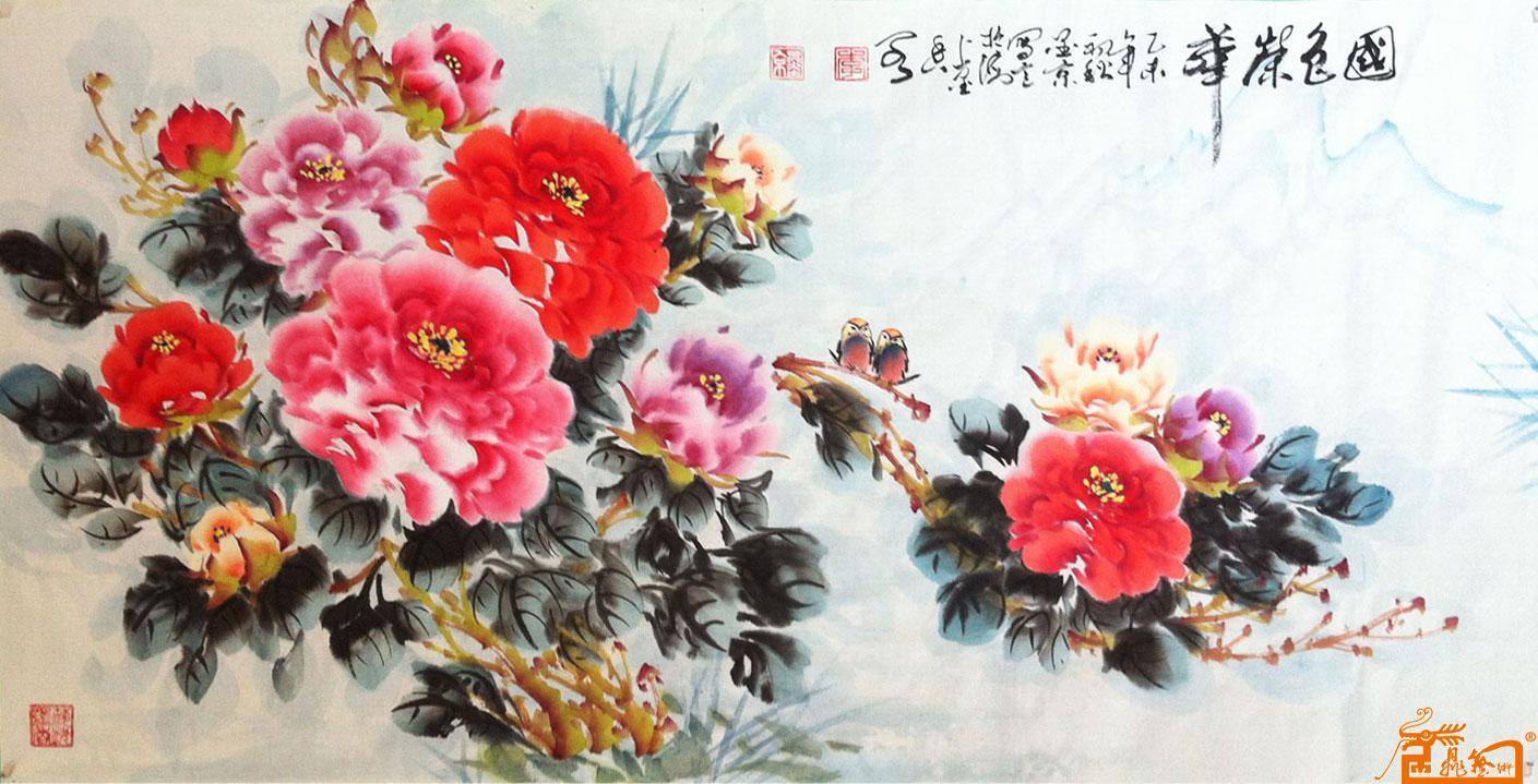 (45)作品:写意-牡丹