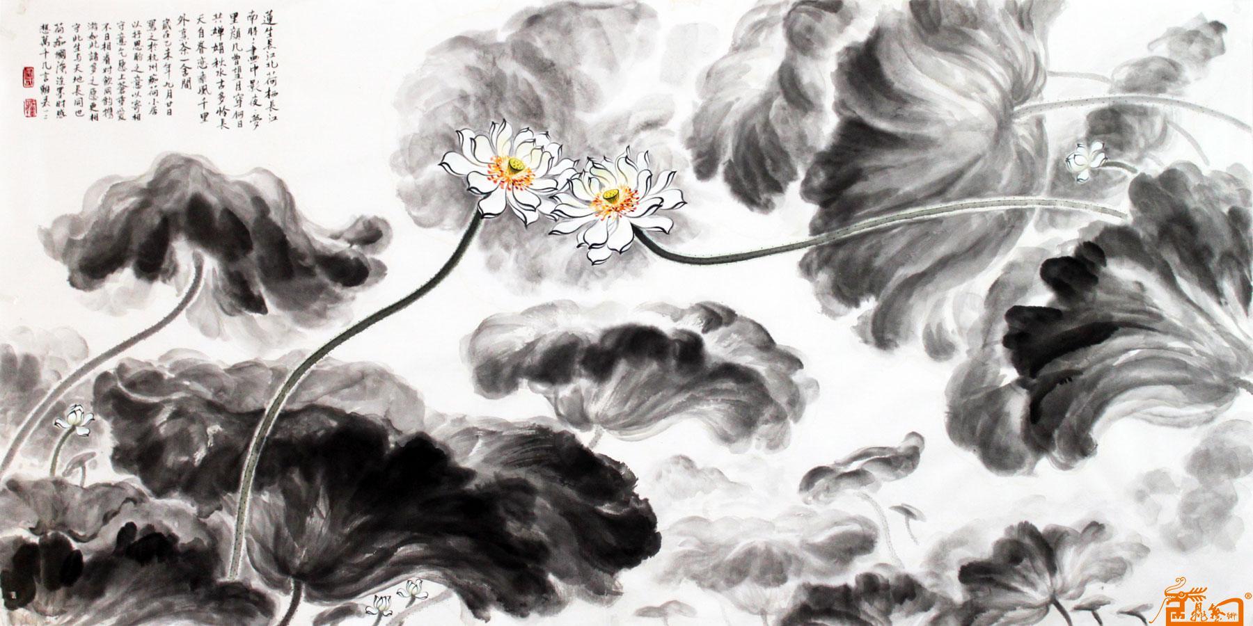 荷花9 -安国强-淘宝-名人字画-中国书画交易中心