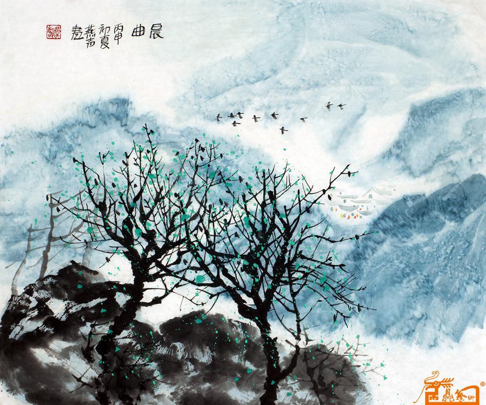 刘燕声 - 名家写意山水画-晨曲 当前   位粉丝喜爱本幅作品 印象分 看