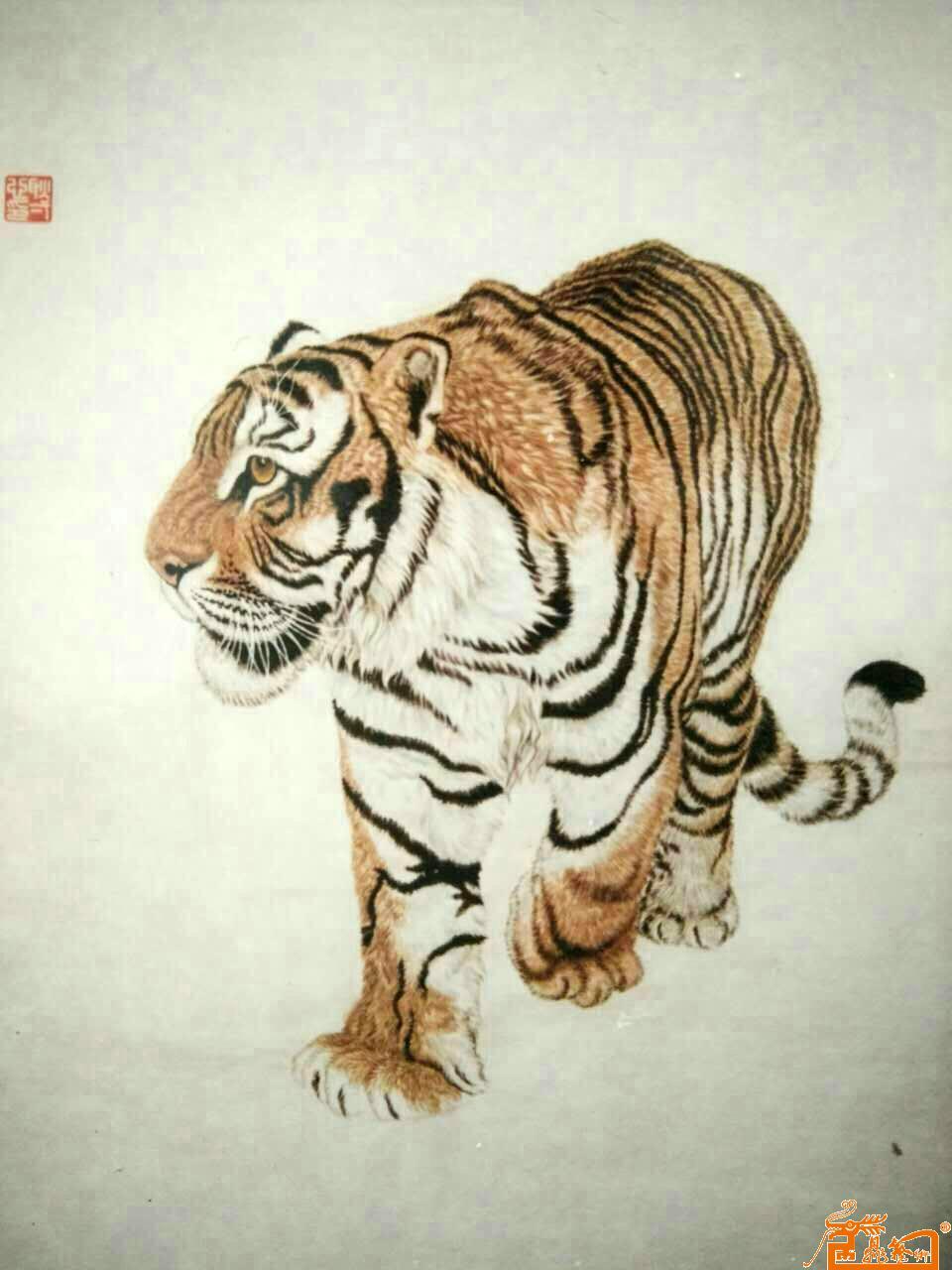 老虎3(已售)-耿一心-淘宝-名人字画-中国书画服务