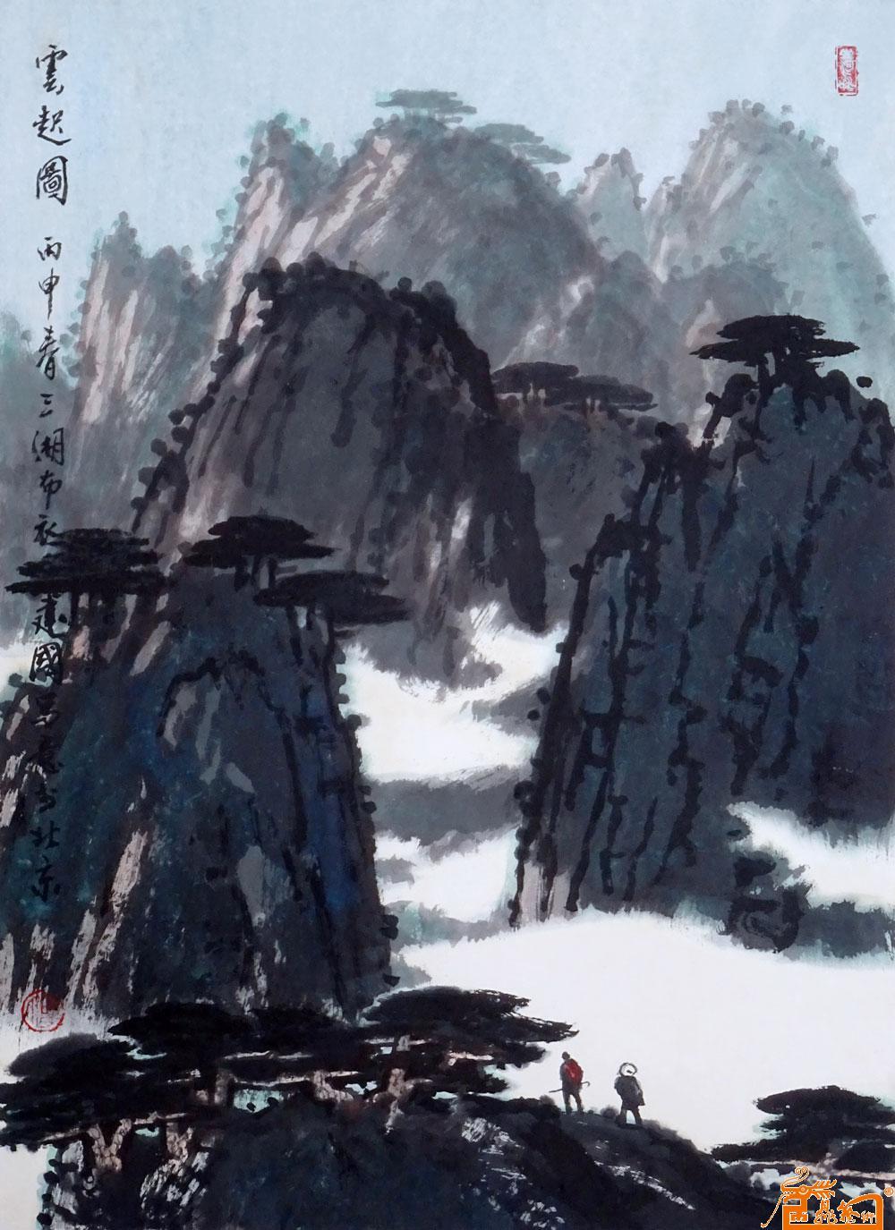 何建国,中国当代著名山水画家,生于1932年,湖南邵阳人.