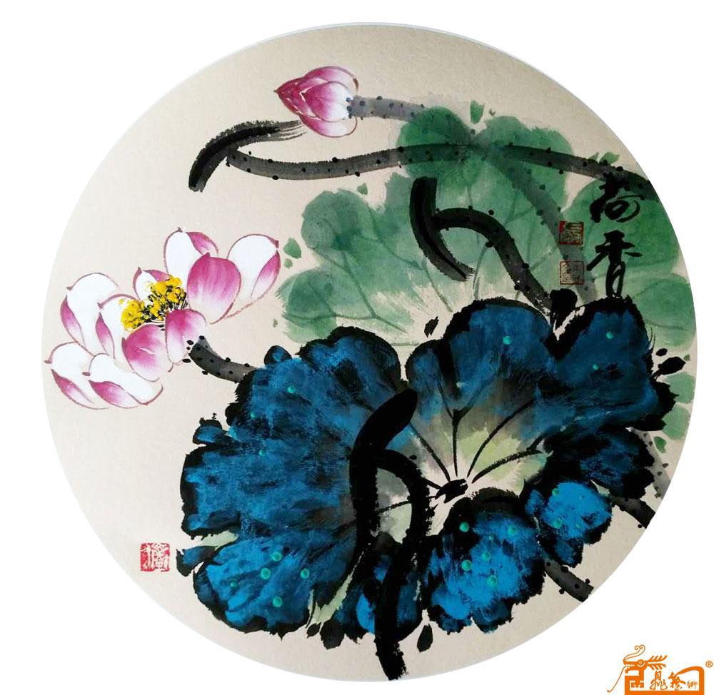 团扇竹子熊猫手绘图片