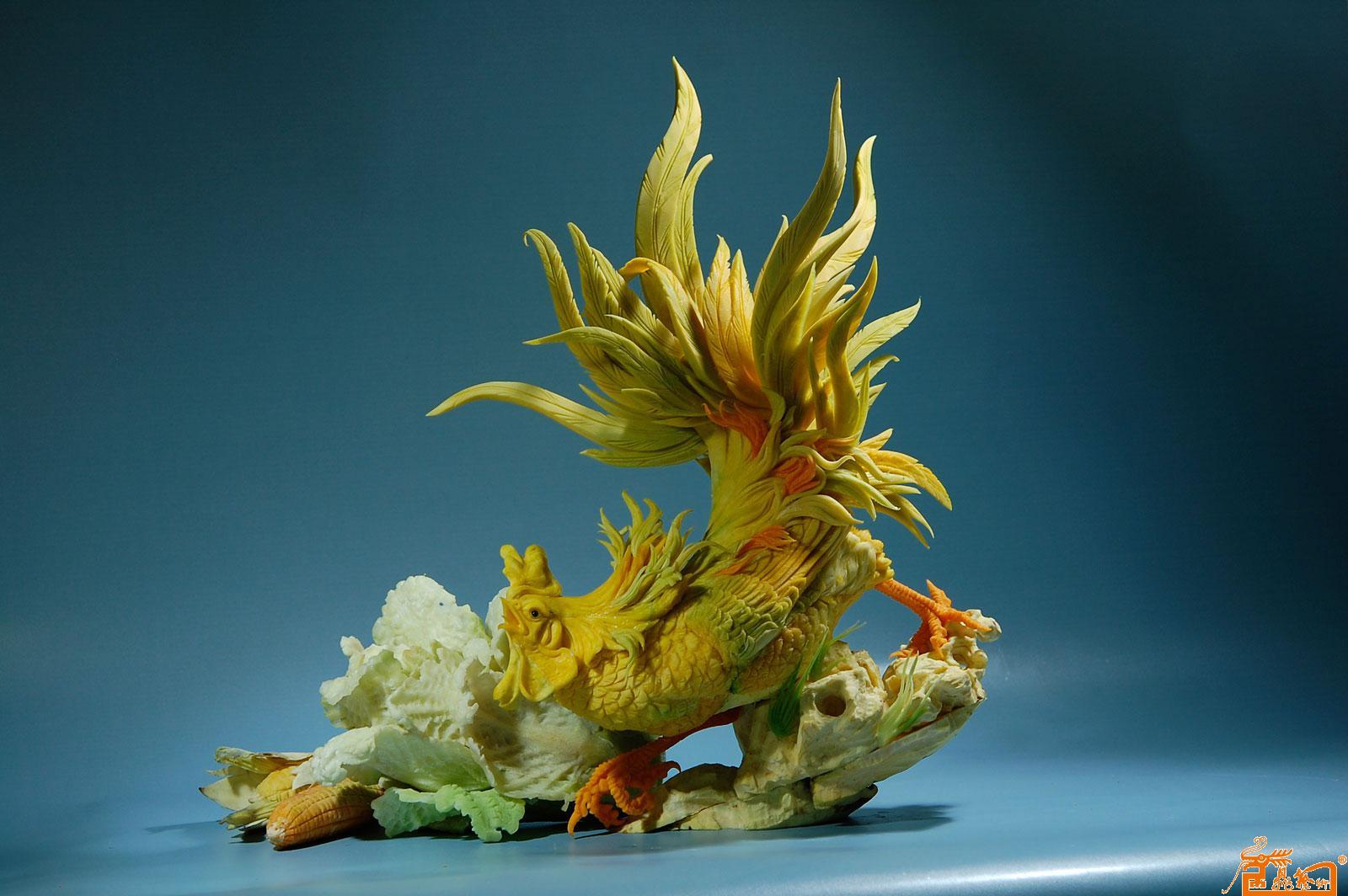 国画名家 孔令海 - 食品雕刻花鸟作品10