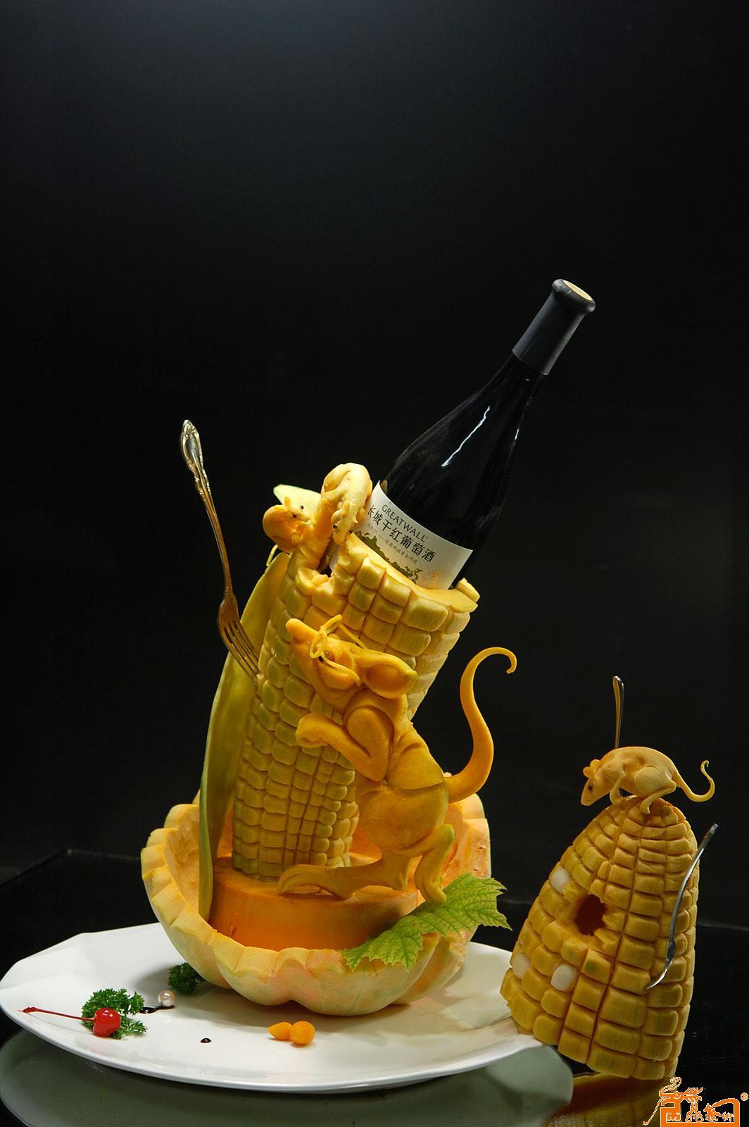食品雕刻器皿作品- 喜获