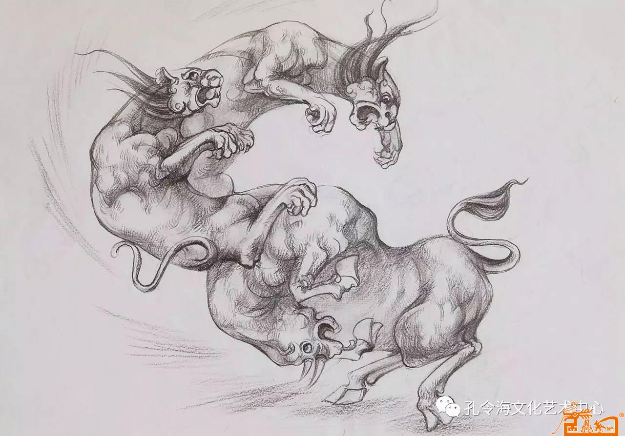手绘动物图稿6