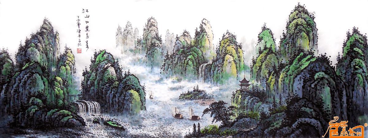 六尺《江山如画万里春》